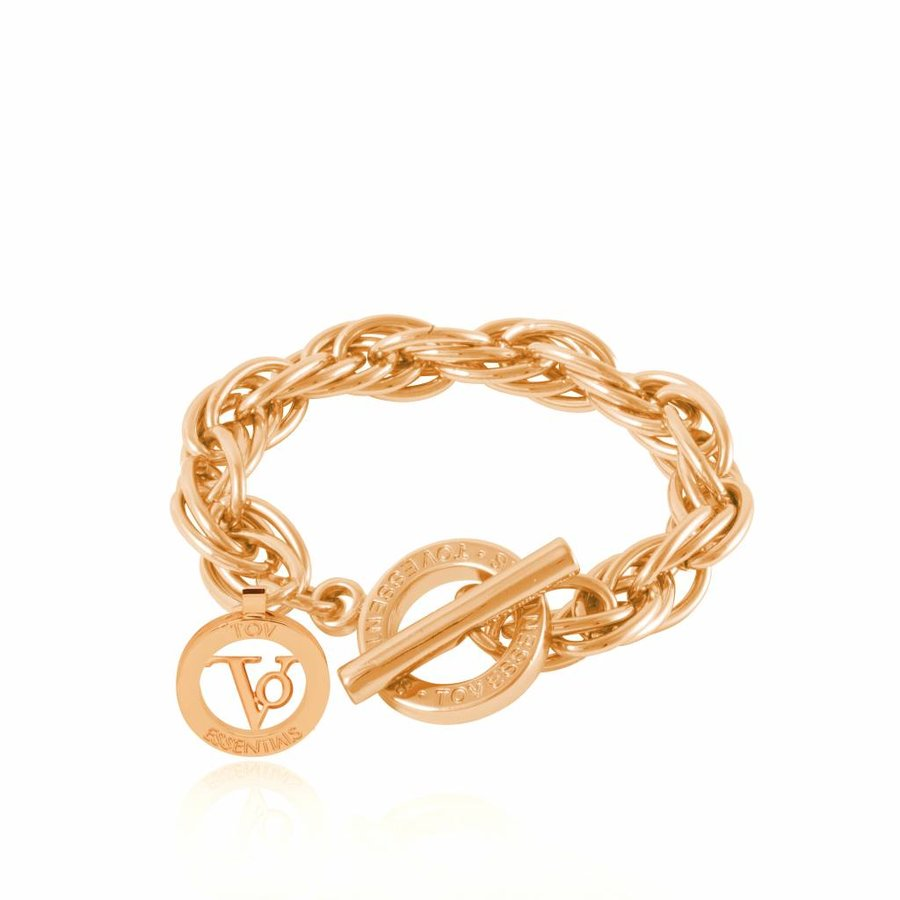 Small twisted Chain - Armband - Goud