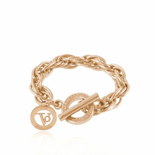 Small twisted chain bracelet - Light gold