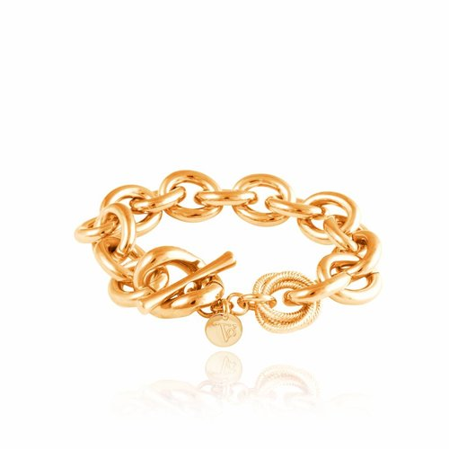 Small oval gourmet bracelet - Gold