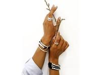 Oak Twig - Armband- Gold/ Black