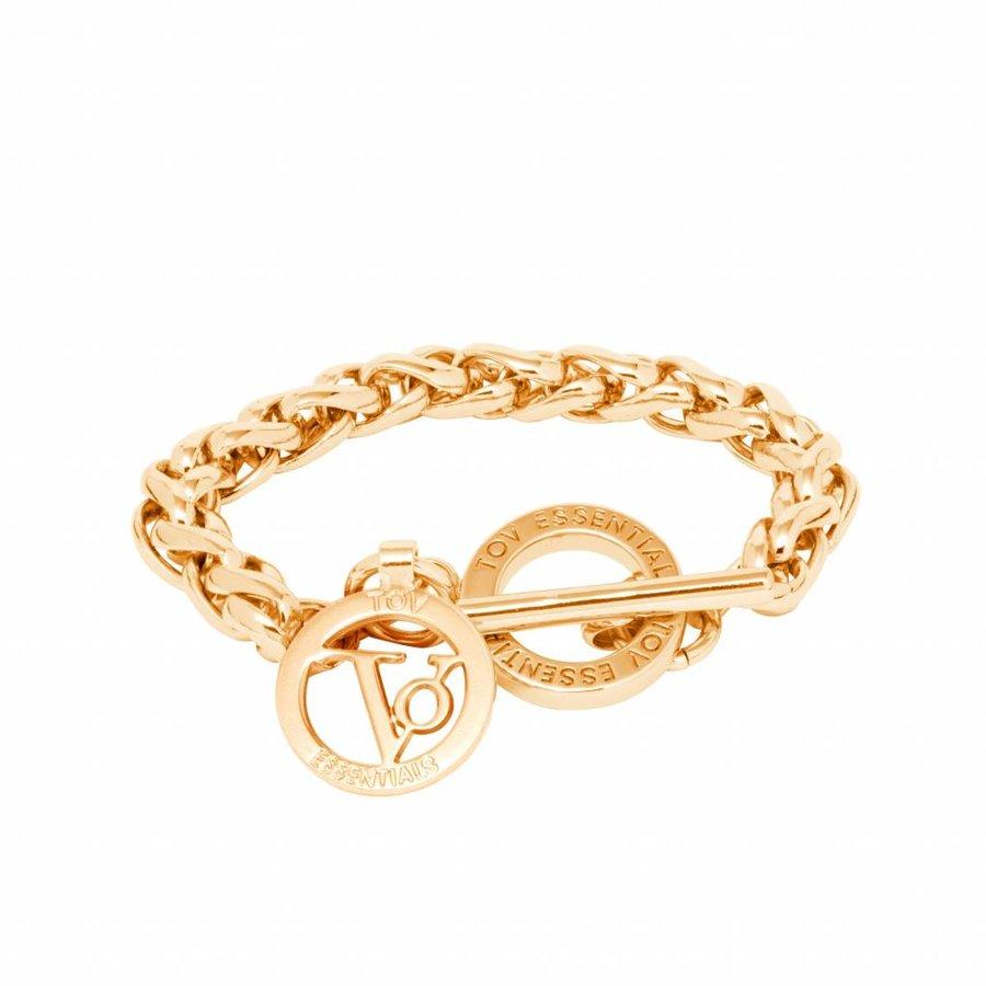 Small spiga bracelet - Gold