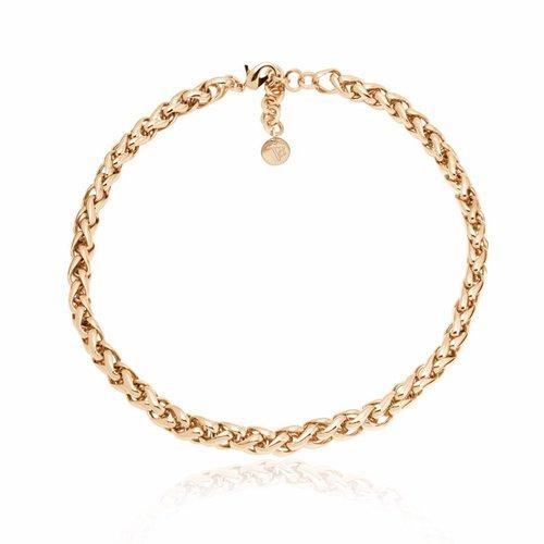 Small spiga collier - Light gold