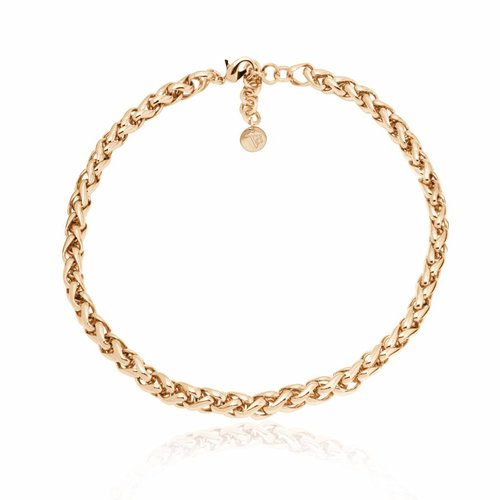 Small spiga ketting - Champagne goud