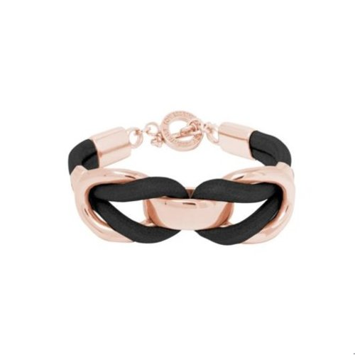 Eclips big cord t-bar closure - Armband - Rose/ Zwart