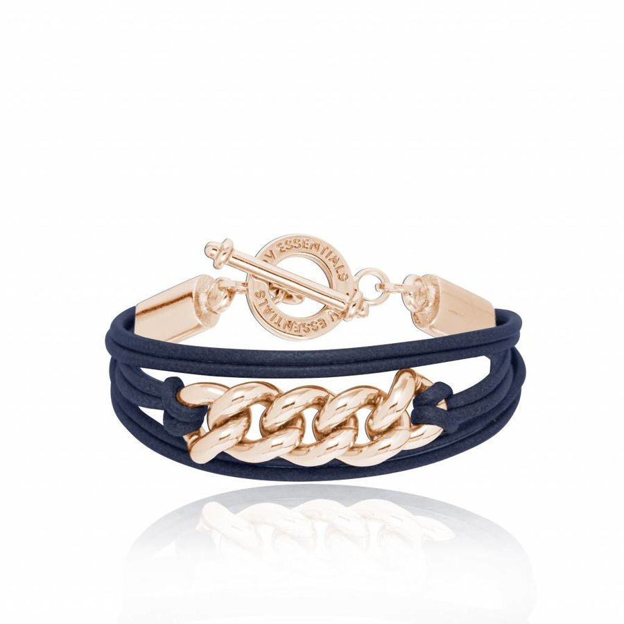 Lots of cords Chain - Armband - Rose/ Navy