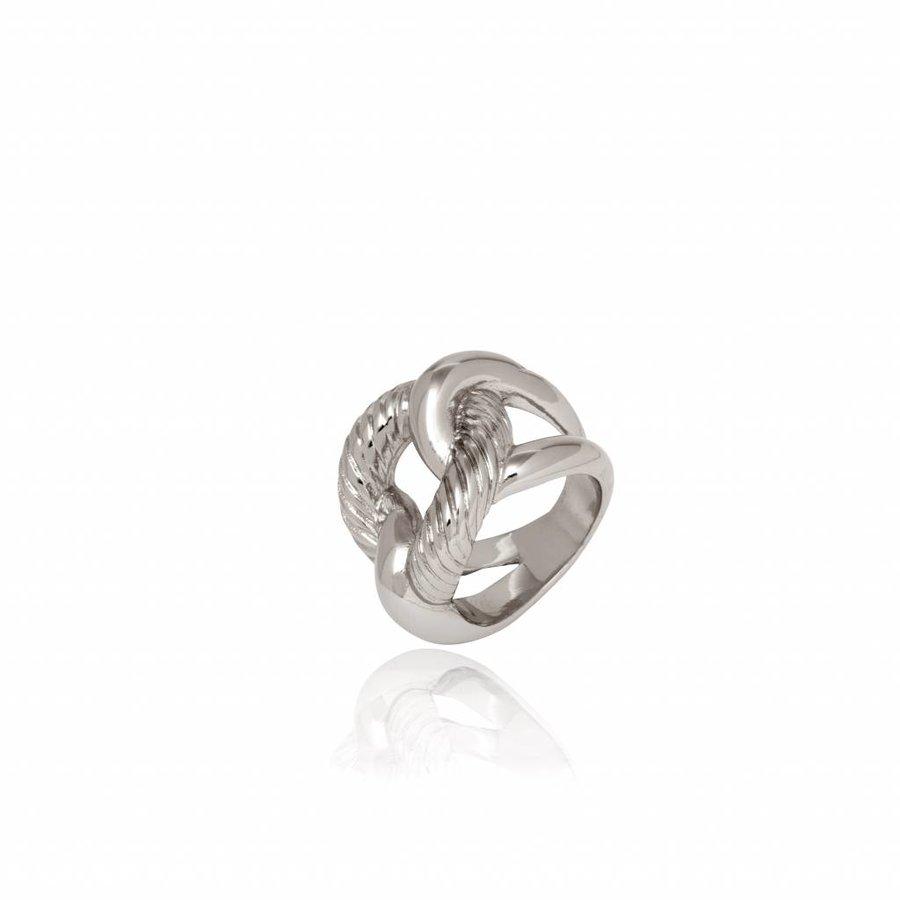 Profile gourmet ring - Zilver