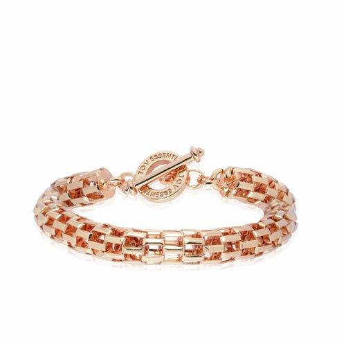 Big round chain bracelet -  rose