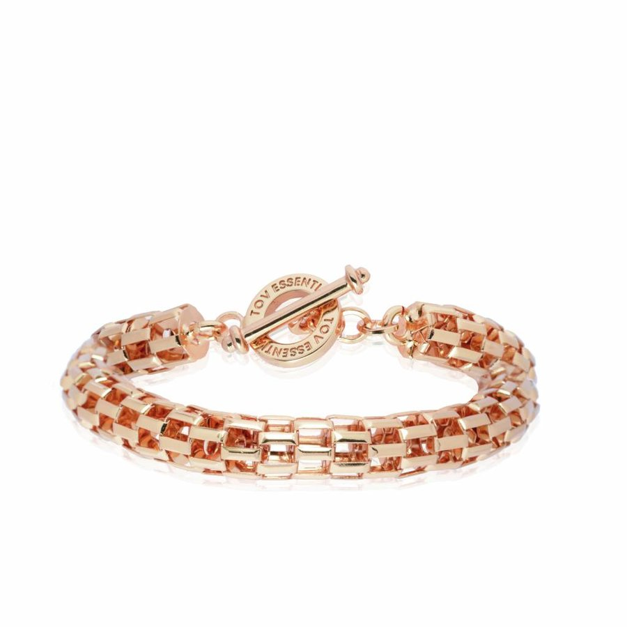 Big round chain bracelet -  rose