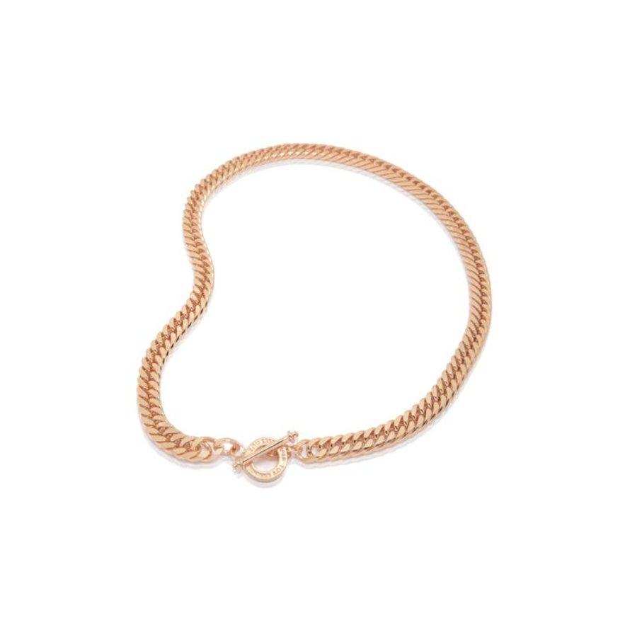 Diamond cut gurmet necklace - Rose
