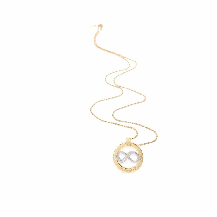 Medallion 85 cm necklace - Gold/ Silver