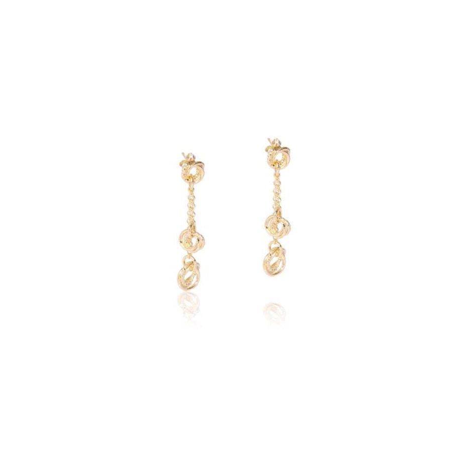 Tri rings earrings - Gold