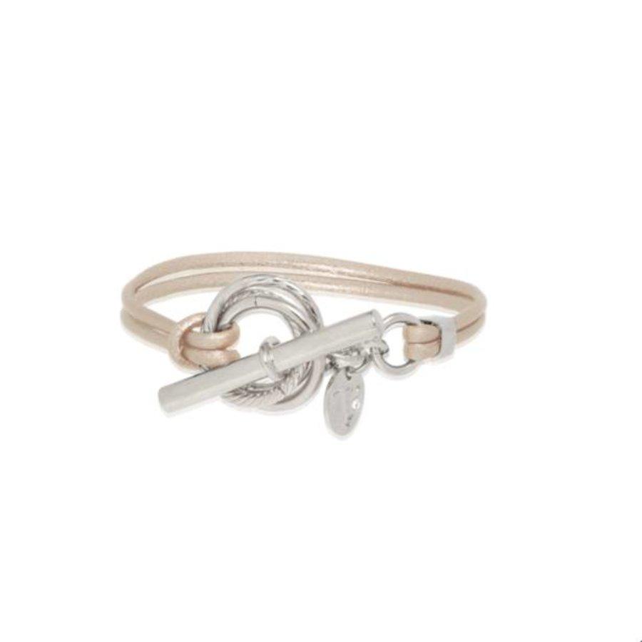 Metalic bracelet - Silver/ Champagne methallic