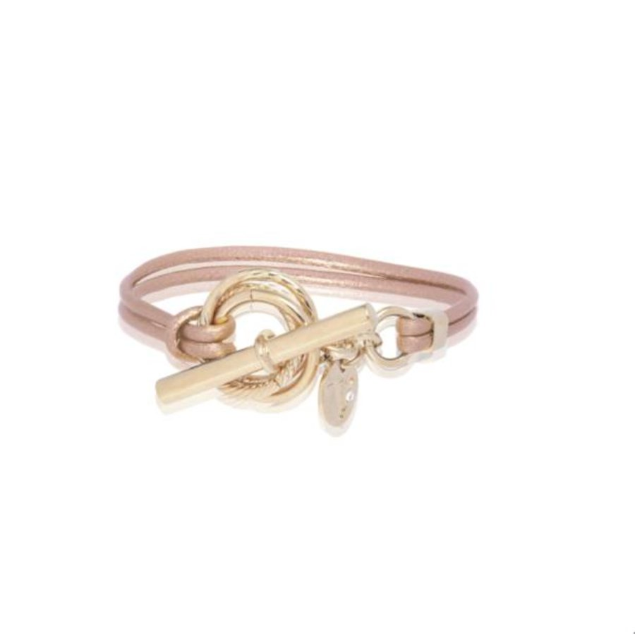 Metalic bracelet - Light gold/ Rose metalllic