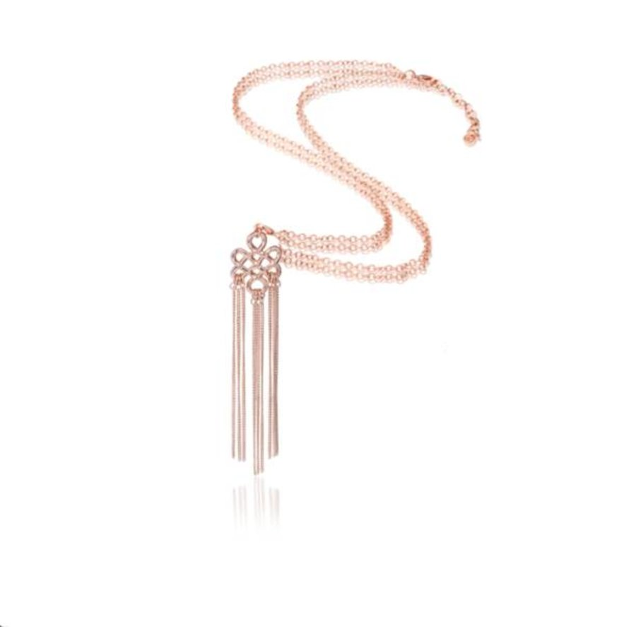 Infinity knot ketting - Rosé