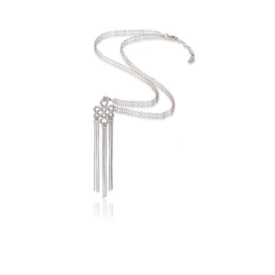 Infinity knot ketting - Zilver