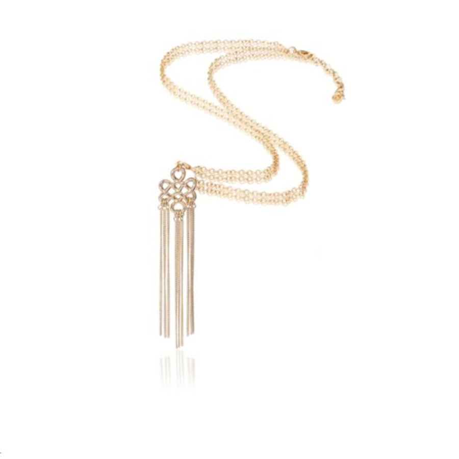 Infinity knot ketting - Champagne goud