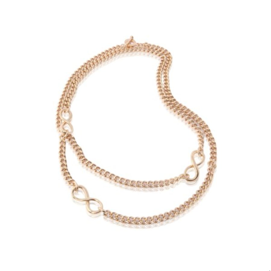 Long gourmet necklace - Rose