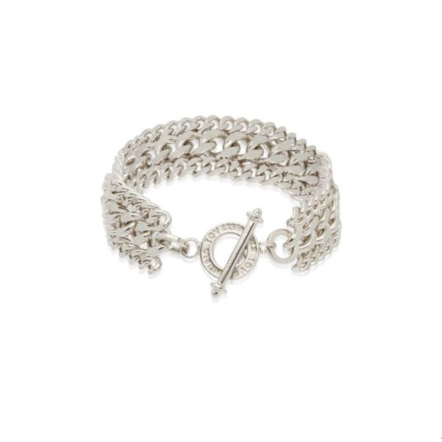 3 types of chain bracelet - White gold