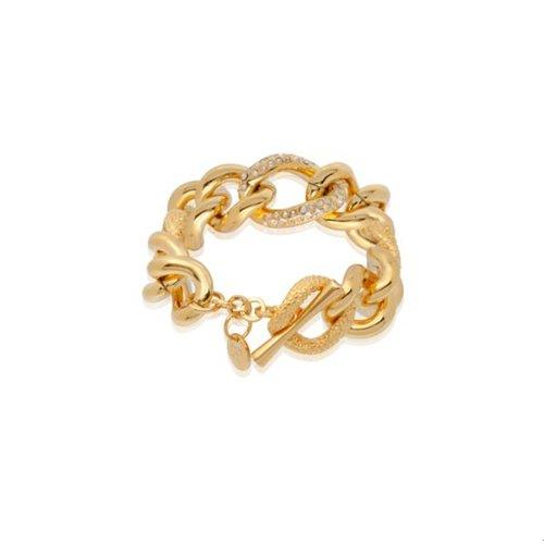 Multi look gourmet armband - Goud