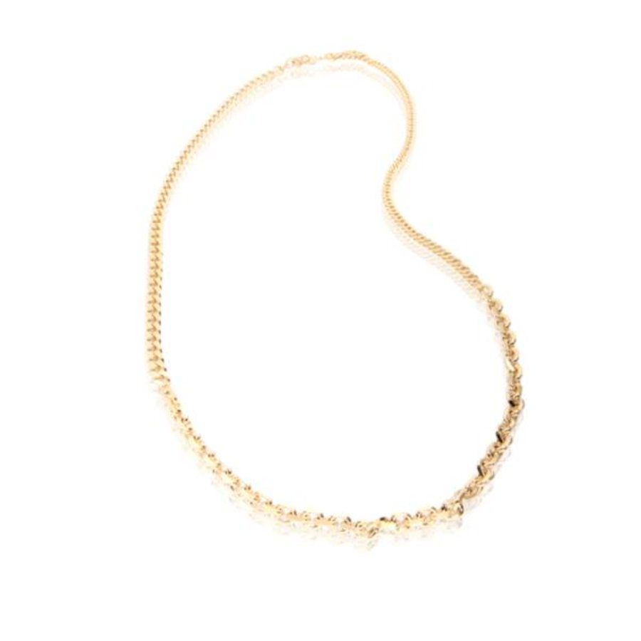 3 Types of chain long ketting - Goud