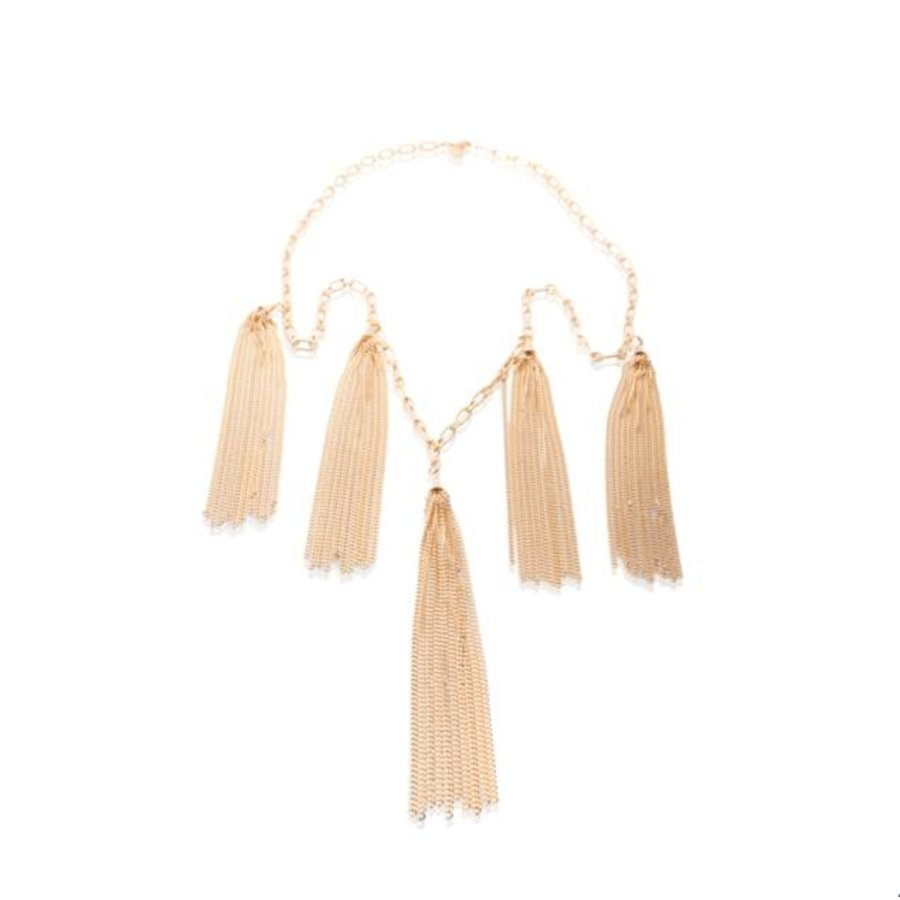 Jolly multiple fringes necklace - Rose