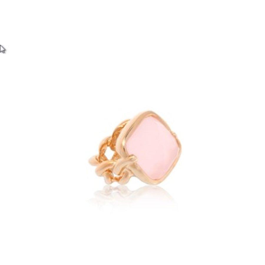 Rock it gourmte ring - Rose/ Rose quartz