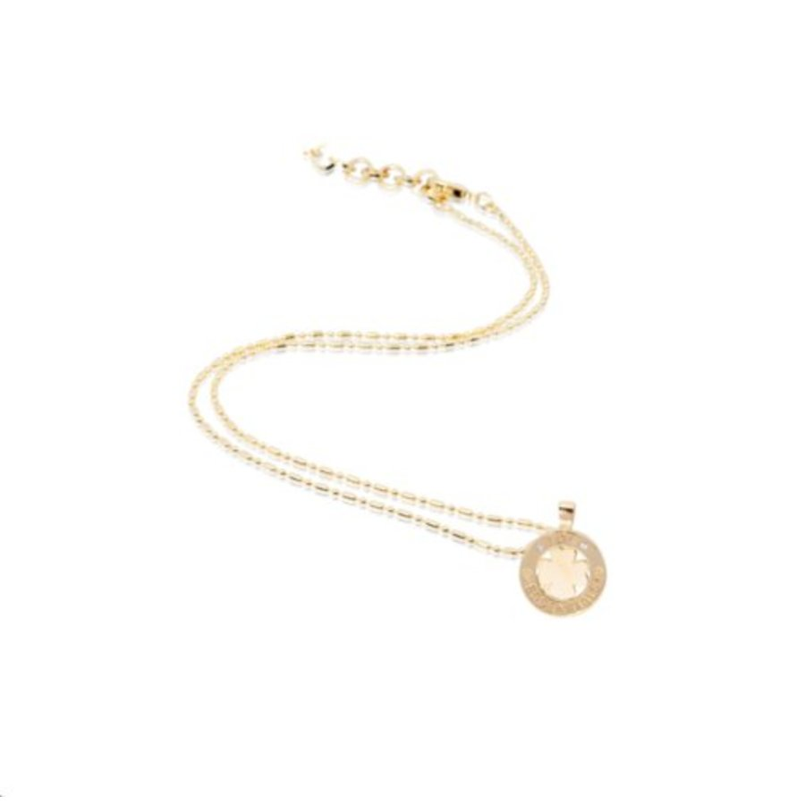 Medaillon small 45cm necklace - Gold/ 4leaf pendant