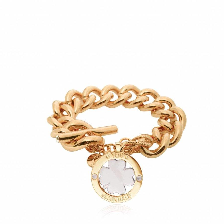 4leaf bi colour bracelet - Gold/ Silver