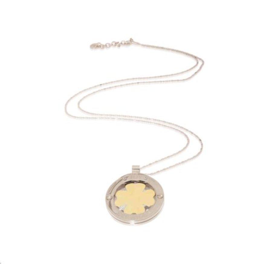 4 leaf bi-color medaillon - Silver/ Gold