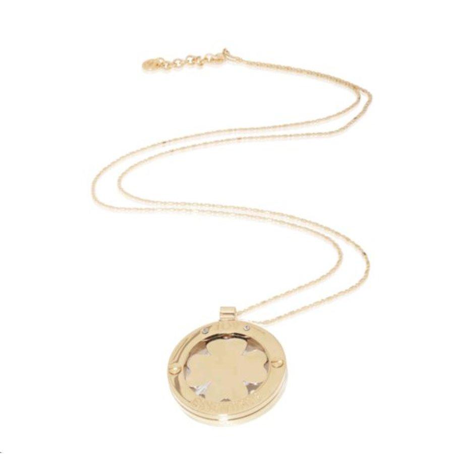 4leaf medaillon ketting - Champagne goud