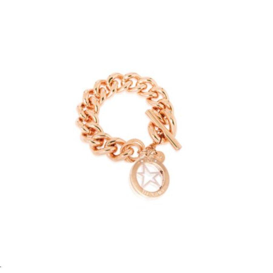 Medaillon armband - Rosé/ Ster pendant