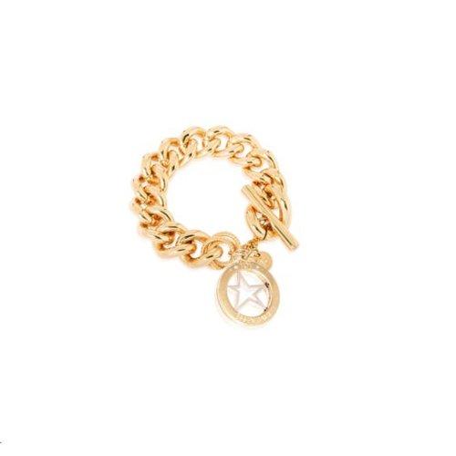 Medaillon bracelet - Gold Rising star