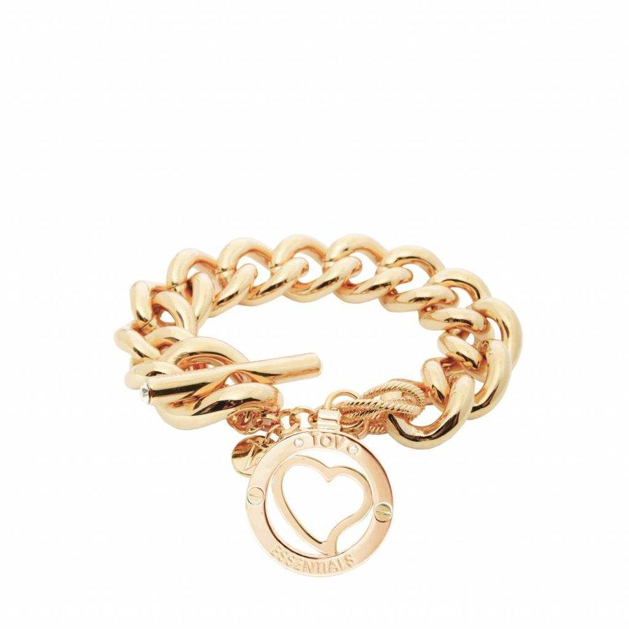Heart bi-color - Armband - Champagne goud