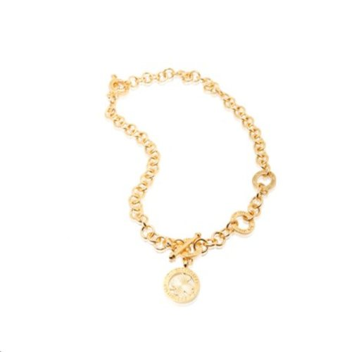 3 position ketting - Goud