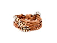 Lot's of cord multi beads - Cognac/ Gold white - Gold rose