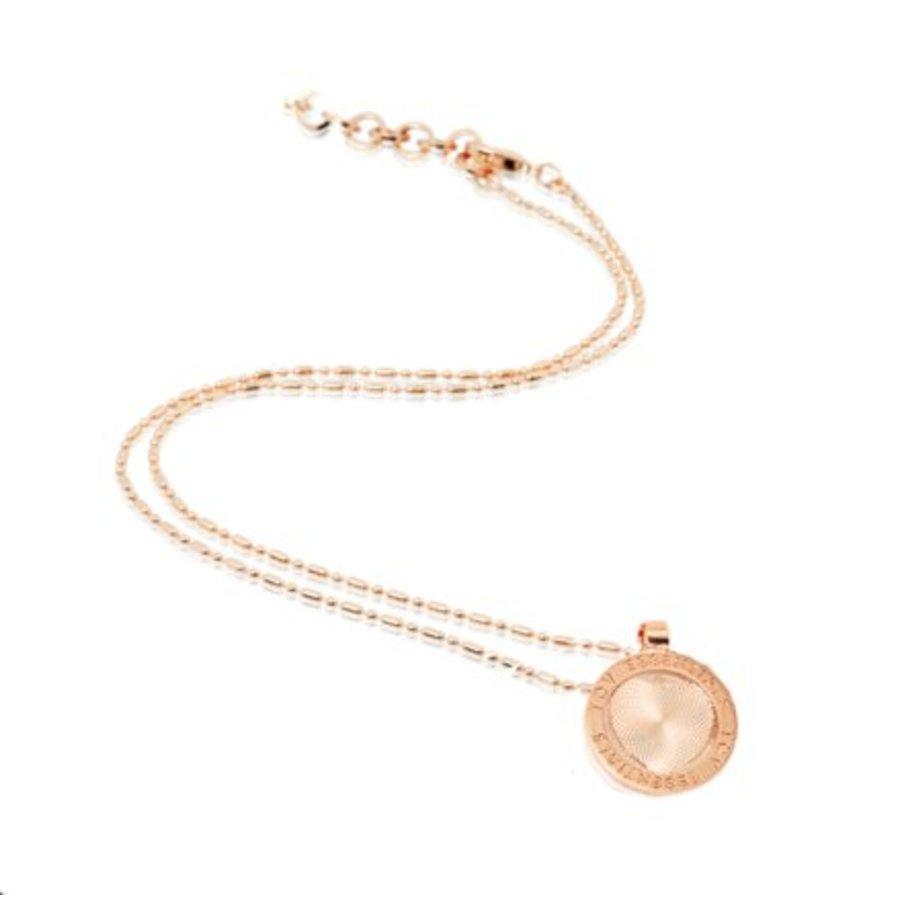 Small medaillon necklace - Rose/ Heart coin 2cm