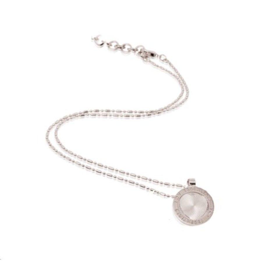 Small medaillon ketting - Zilver/ Hart munt 2cm