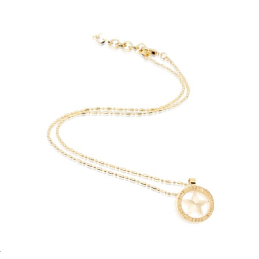 Small medaillon necklace - Gold/ Star coin 2cm