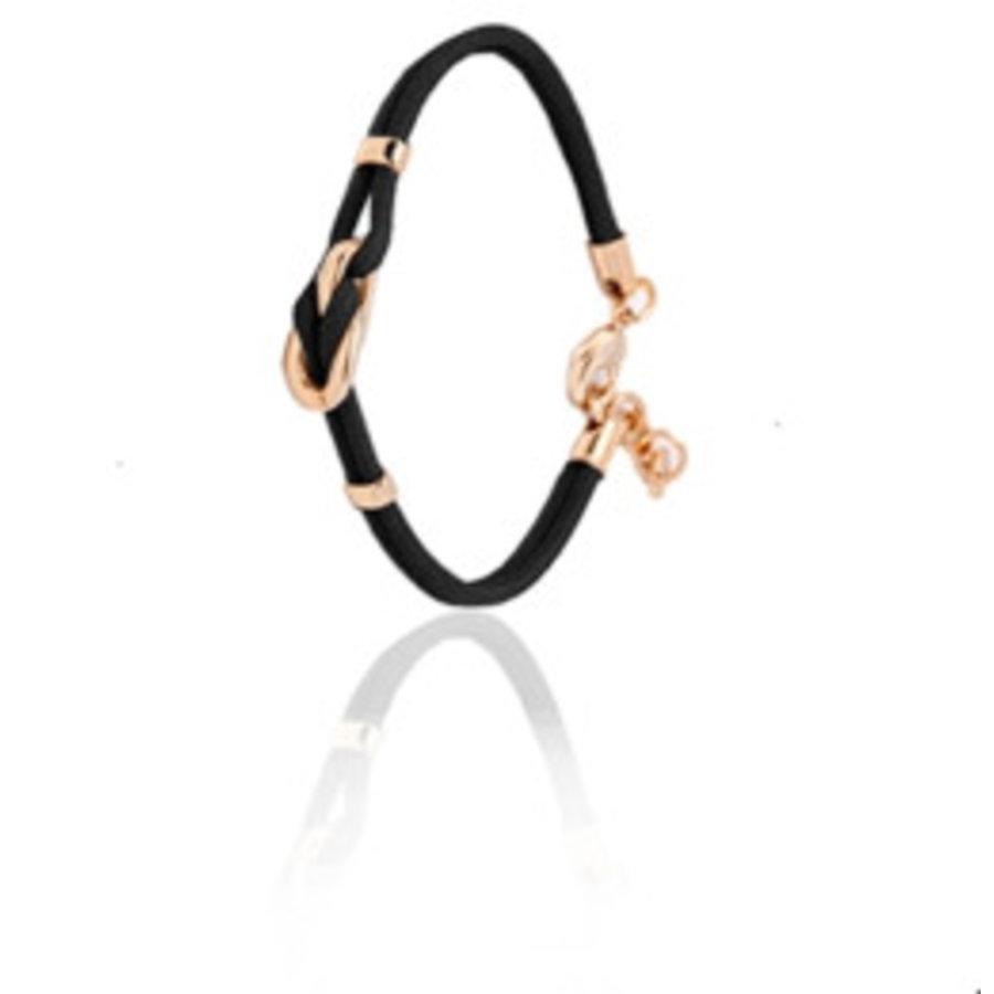 Eclips mini cord bracelet - Rose/ Black