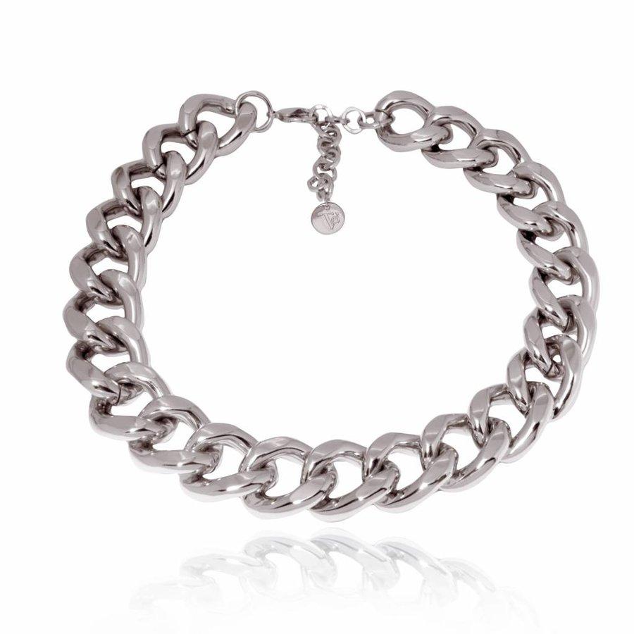 Flat gourmet collier - Silver