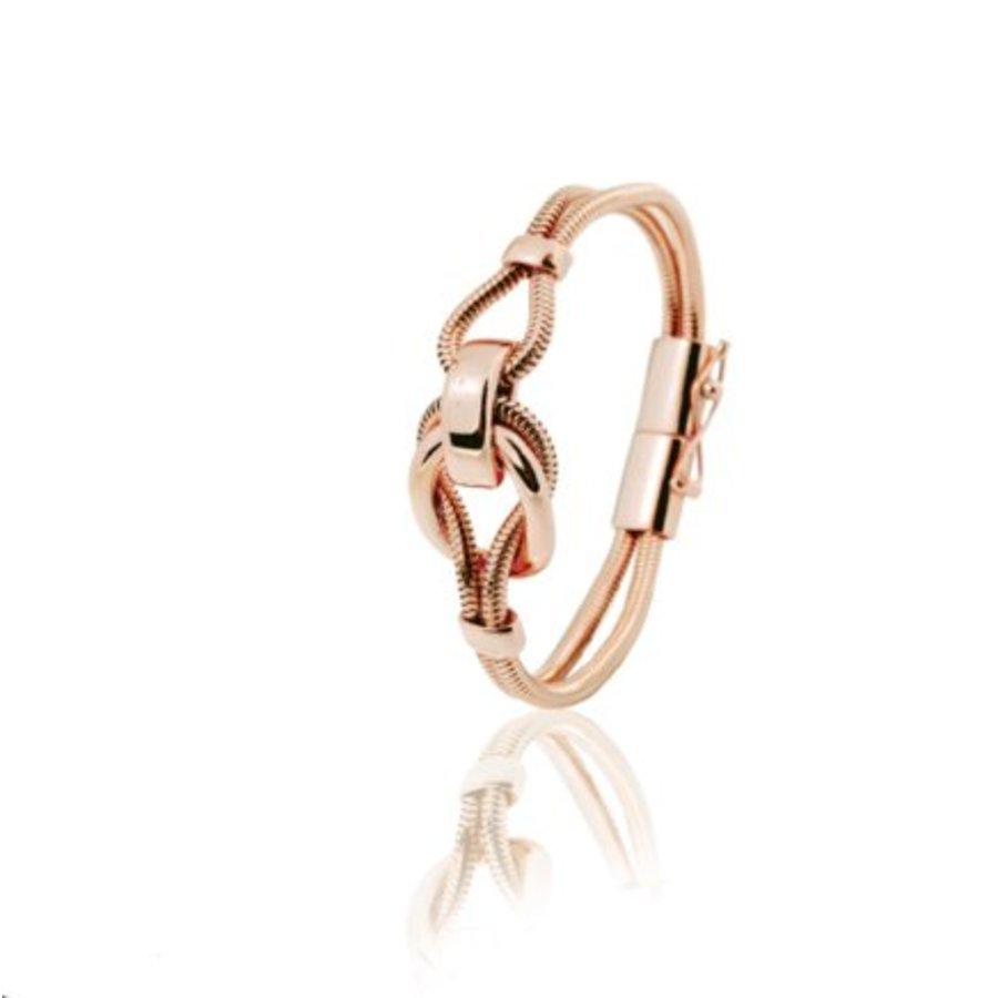 Big metal eclips armband 19 - Rosé