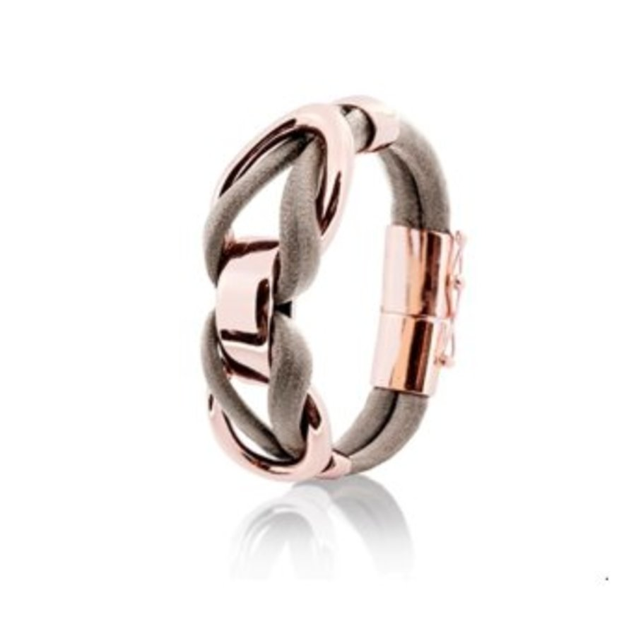 Eclips big cord bracelets - Rose/ Taupe
