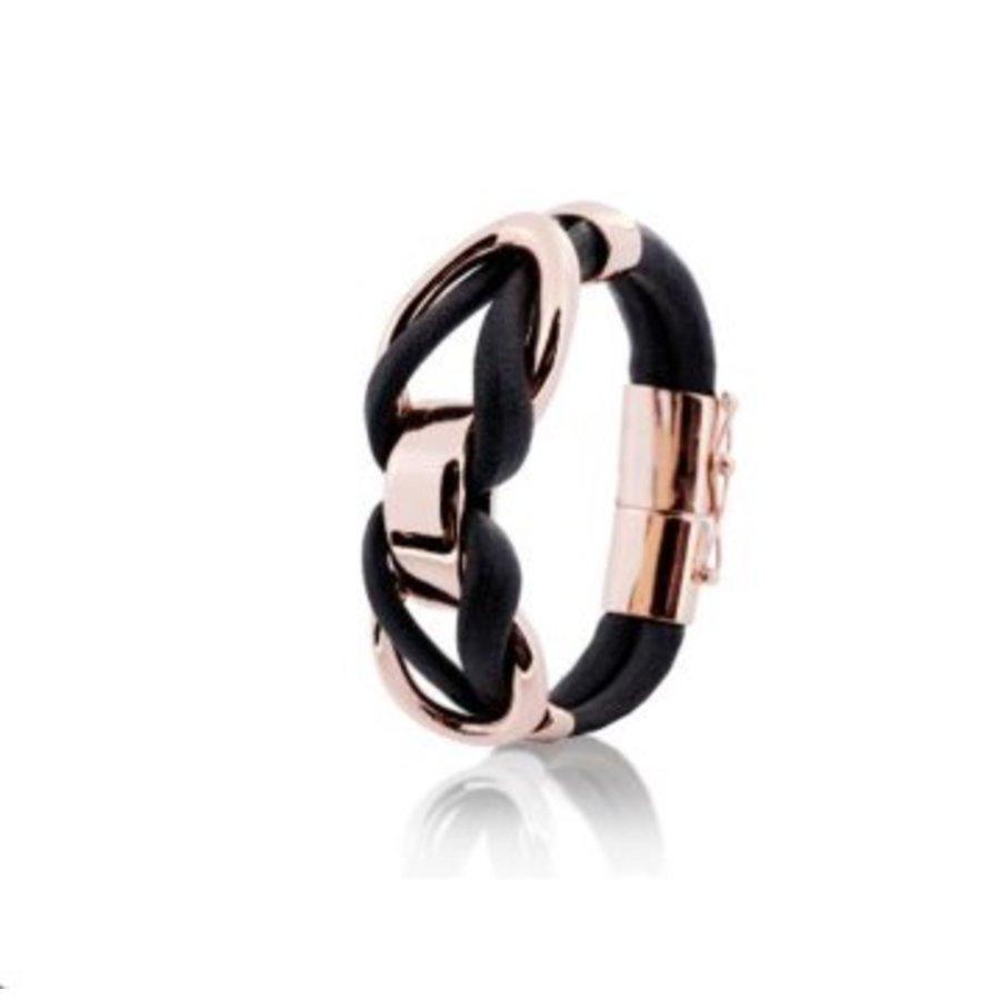 Eclips big cord armband - Rosé/ Cognac