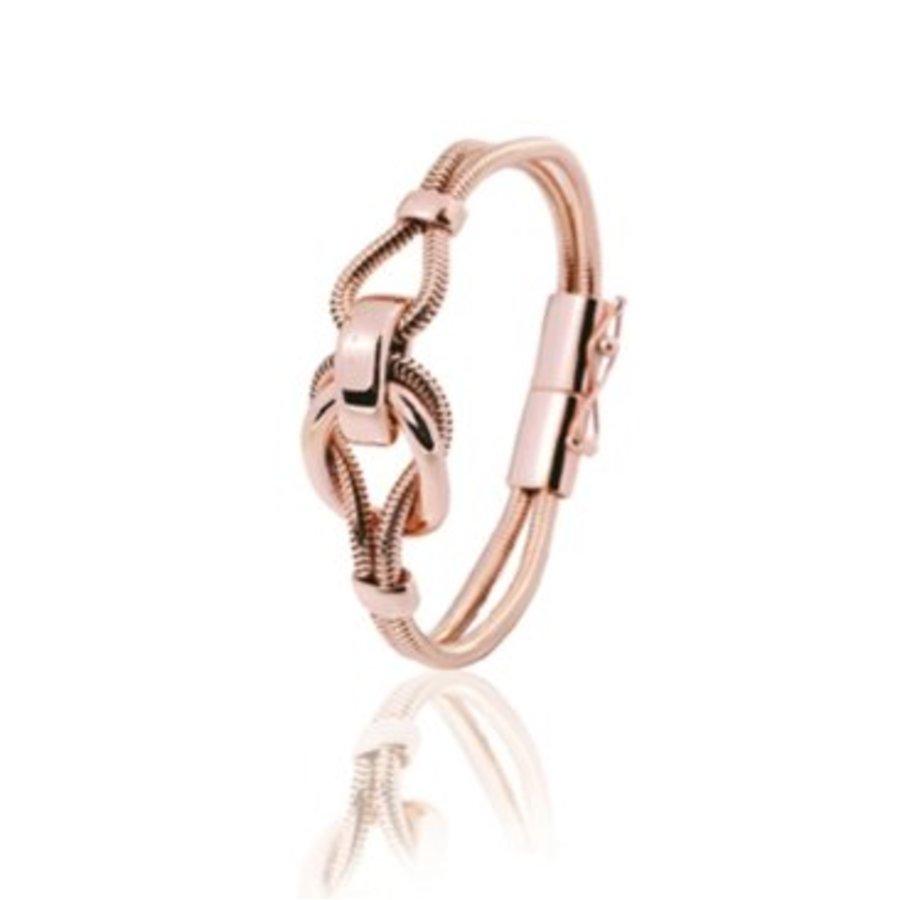 Small metal eclips armband 19 - Rosé