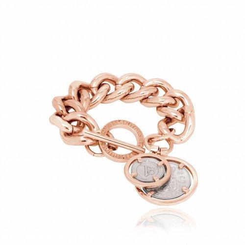 Bi colour solo chain armband - Rosé