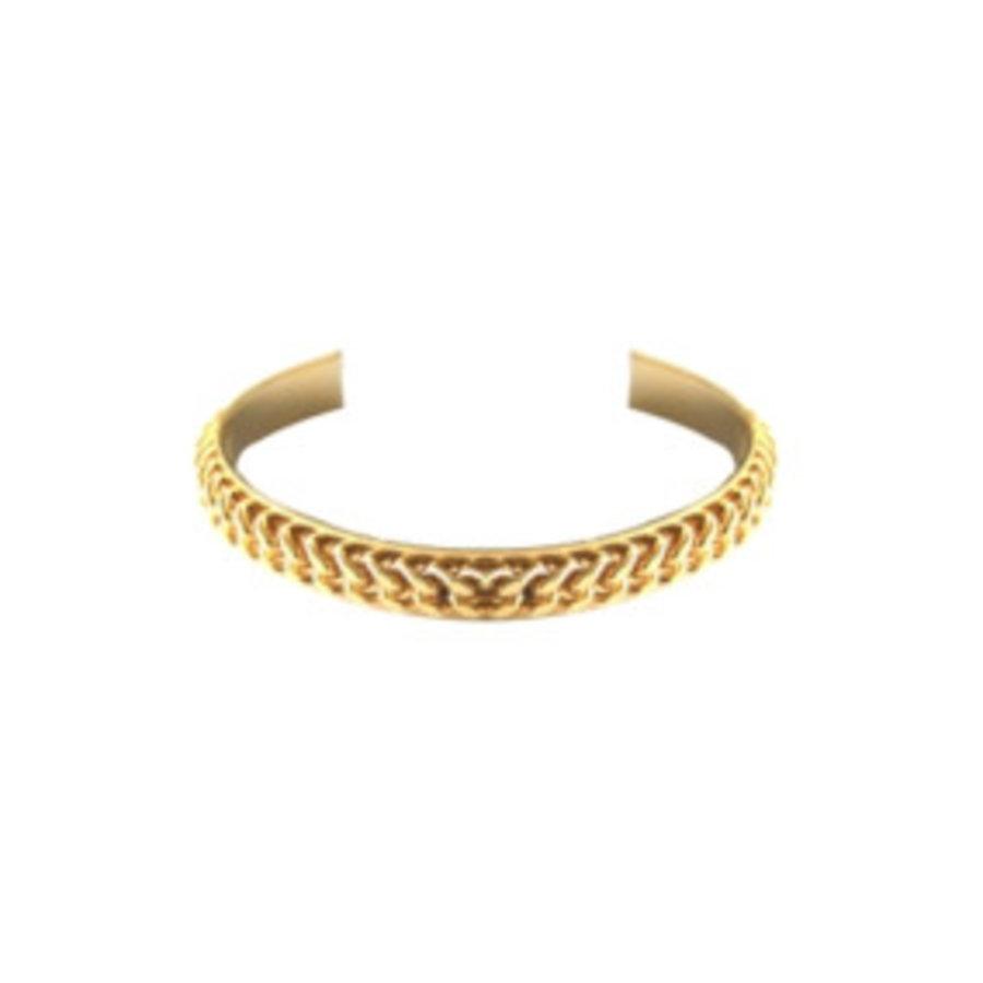 Love flat chain cuff - Goud