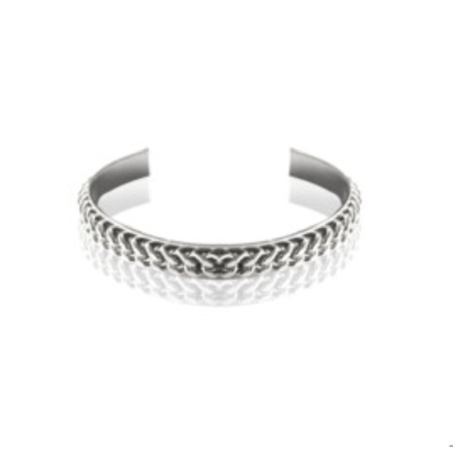 Love flat chain cuff - Silver
