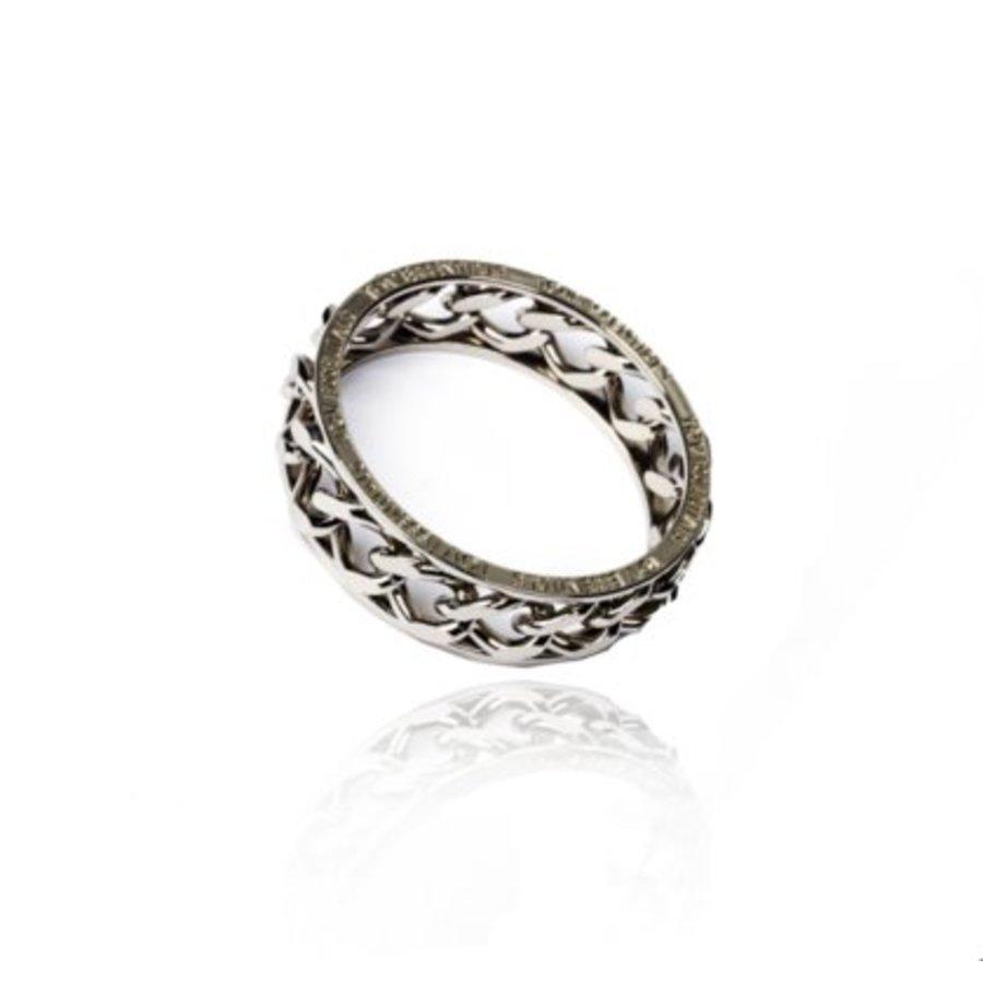 Big chain bangle - Silver