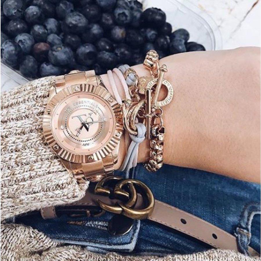 Metallic armband - Champagne goud/ Rose metallic