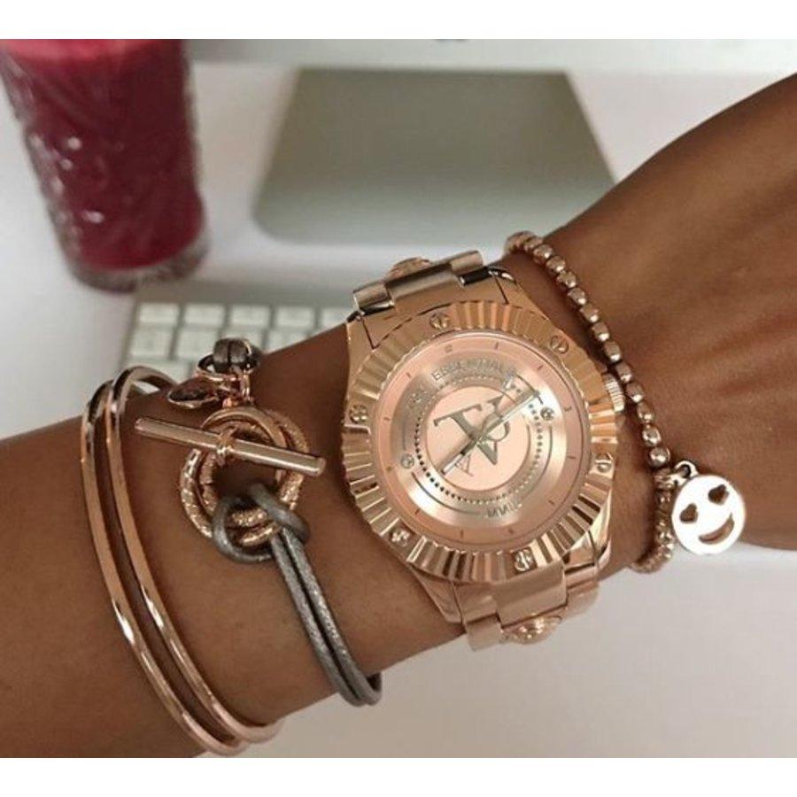 Metallic armband - Champagne goud/ Bronze metallic
